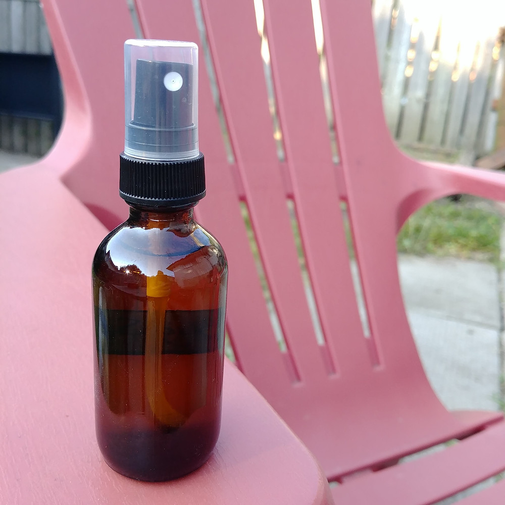 mosquito repellent, DIY essential oil, Natural mosquito repellent, outdoor bug spray, adirondack chair, camping