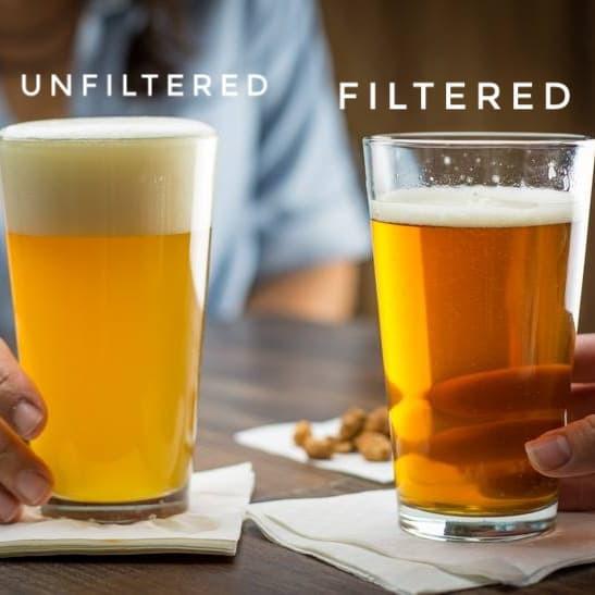 filtered vs. unfiltered beer