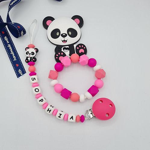 "Set ""Pandabär Rosa"""