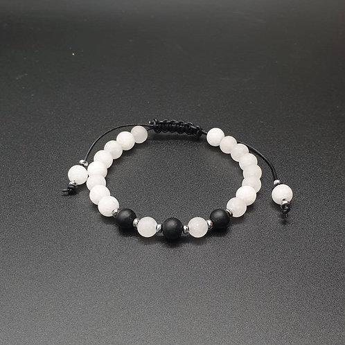 """Unisex Armband """"Black and White"""""""