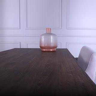 Oak wood table dark oil - QUADRA