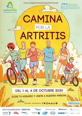 Cartel carrera camina por la artritis