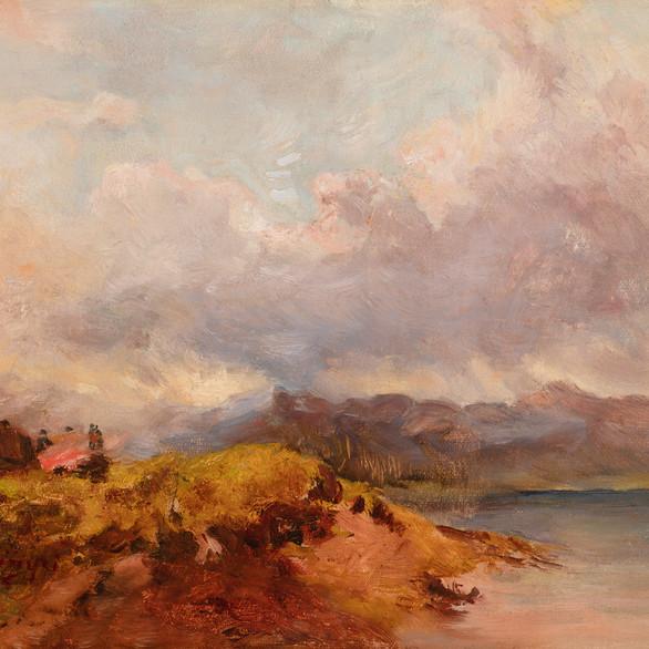 Szinyei Merse Pál: Starnbergi tó / olaj, vászon, 25x32,5cm