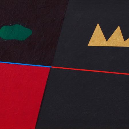 """Aknay János: """"Hajnal"""" 2002 / akril, vászon, 30x40cm"""