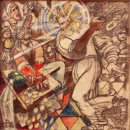 Remsey Jenő: Jézus kiűzi a kufárokat a templomból