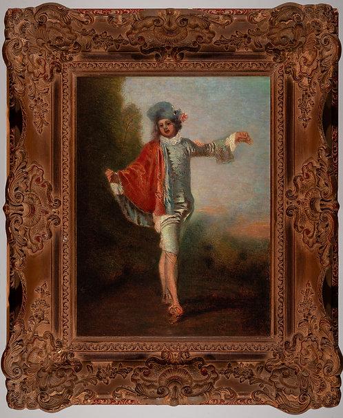 Ismeretlen 19.század végi /feltehetőleg francia/alkotó: Ifjú a tájban