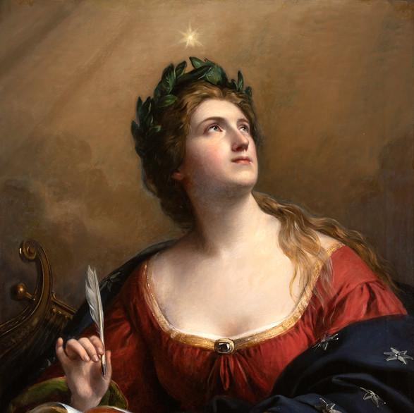 Feuerbach, Anslem Friedrich: Női képmás - Kalliopé az epikus költészet múzsája 1872 / olaj, vászon, 91x72cm