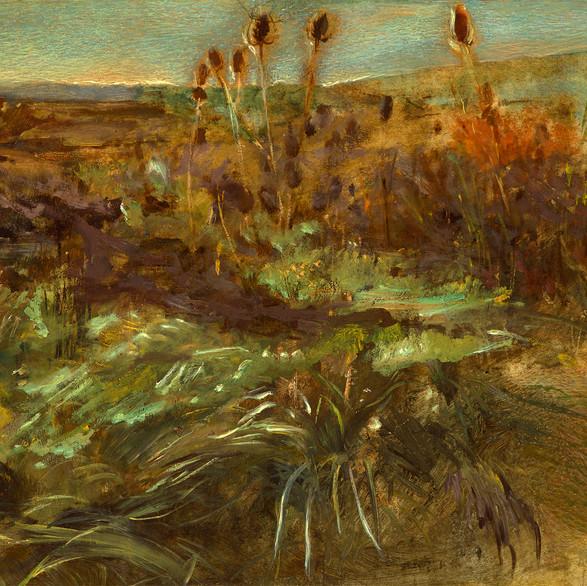 Székely Bertalan: Szadai táj / olaj, karton, 32x49