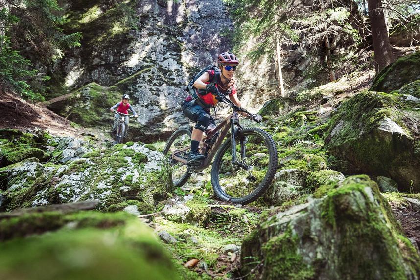 dem Trail vom Berninapass ins Val Poschiavo
