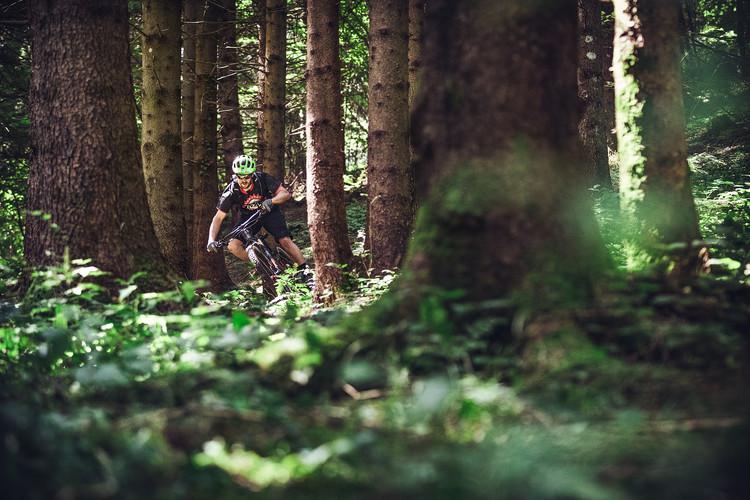 Mountainbiker in der Lombardei