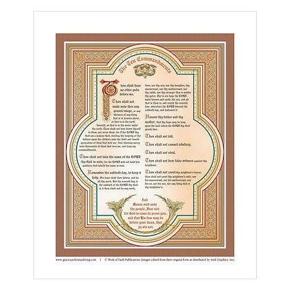 The Ten Commandments  20 x 24 Print