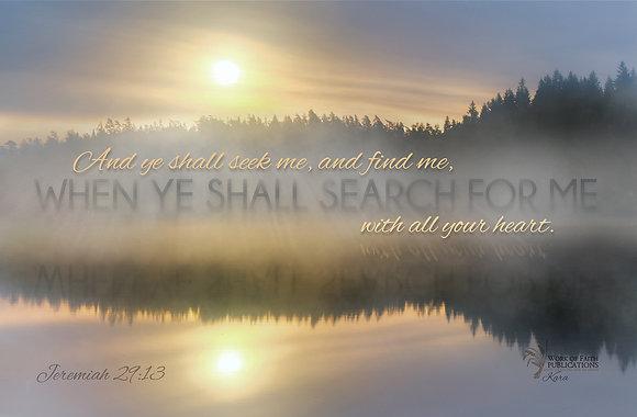 Ye Shall Seek Me Jeremiah 29:13 30 x 54