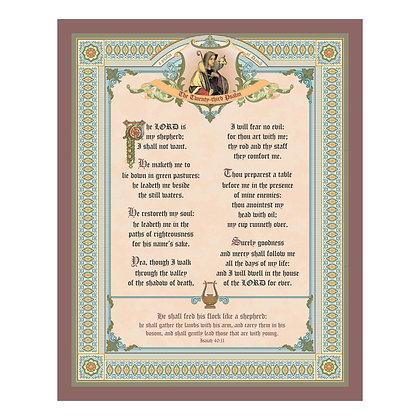 The 23rd Psalm 16 x 20 Print