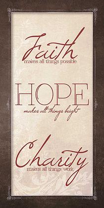 Faith, Hope, Charity 10 x 20