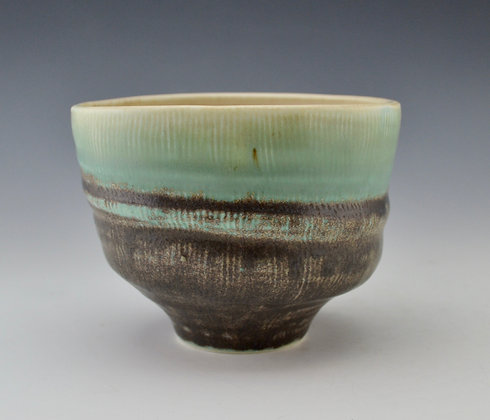 textured turquoise bowl