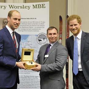 THE DUKE OF CAMBRIDGE PRESENTS ALAN A SPECIAL ACHIEVEMENT WATCH.