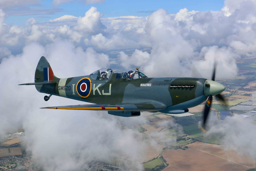 Owen Hardy Spitfire flight Boultbee Flight Academy