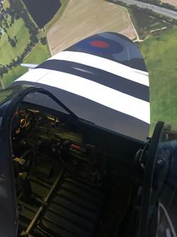Spitire simulator right wing view