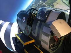 Spitfire Simulator Cockpit Entry
