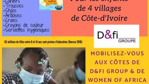 D&FI Groupe se mobilise aux côtés de WOA Côte-d'Ivoire pour la rentrée scolaire 2021