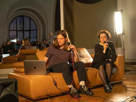 Intalniri in Atelier. Despre Practici Artistice in Arta Contemporana- Artist Talk, Nicu Ilfoveanu, Aurora Kiraly, 2019