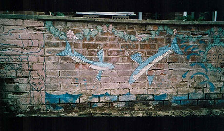 Exterior wall mural