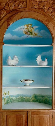 Cherubs cupboard mural