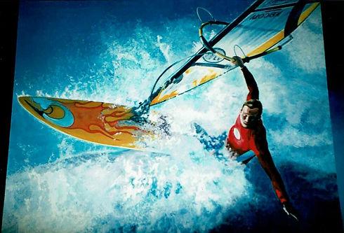 Windsurfer mural