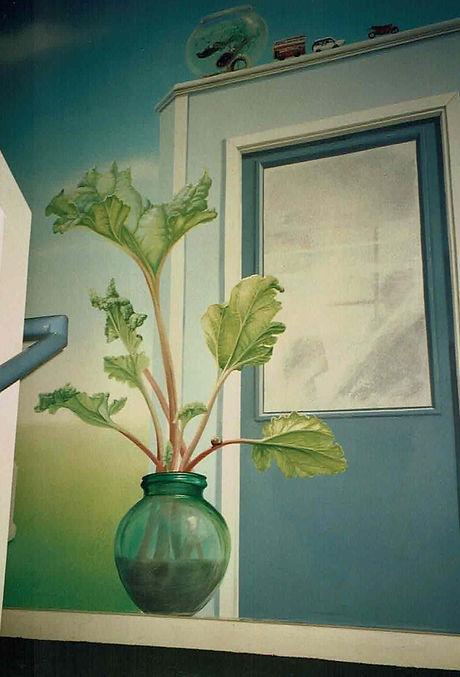 Rhubarb office mural