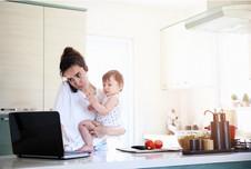 work form home baby kitchen no space.jpg