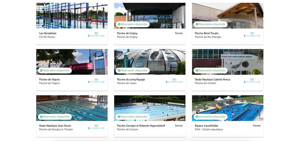 Les piscines équipées de la solution de réservation Affluences