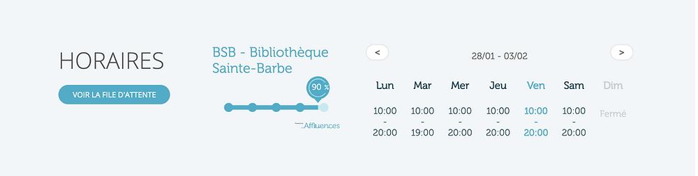Les webAPI permettant de diffuser l'affluence en temps réel – l'exemple du site web de la BSB