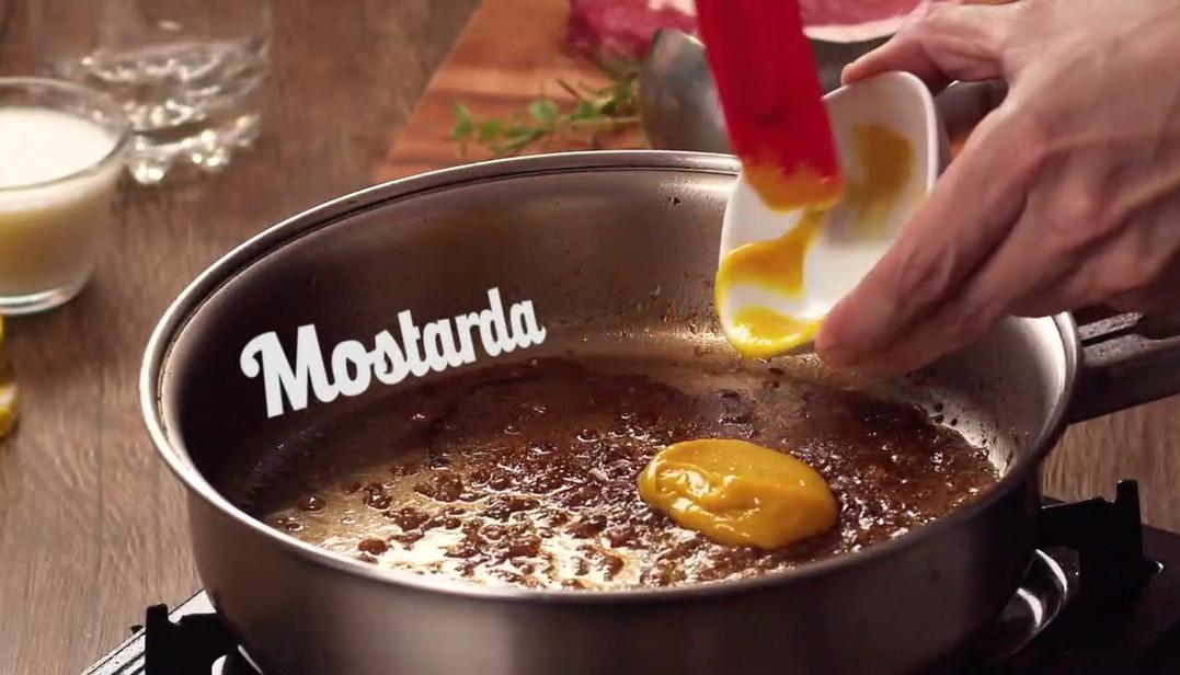 Entrecote ao molho de mostarda