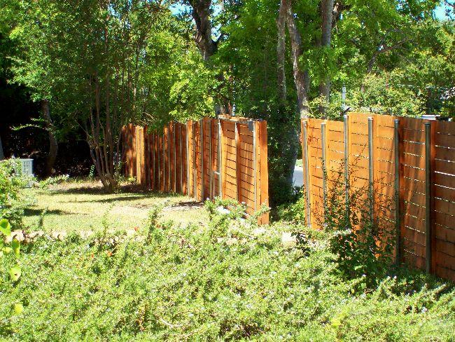 Sturdy Horizontal Wood Privacy Fence