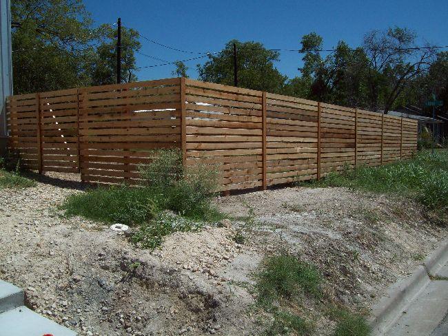 Horizontal Fence With Gaps