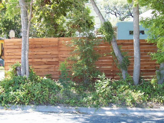 Wood Horizontal Fence With Gaps