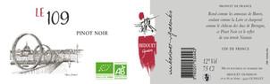 Le 109, Pinot Noir Bedouet vigneron BIO