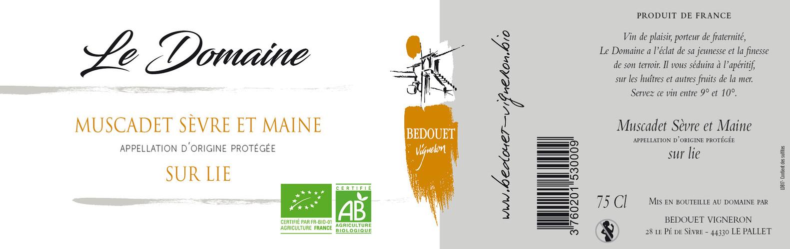 Le Domaine Bedouet vigneron BIO
