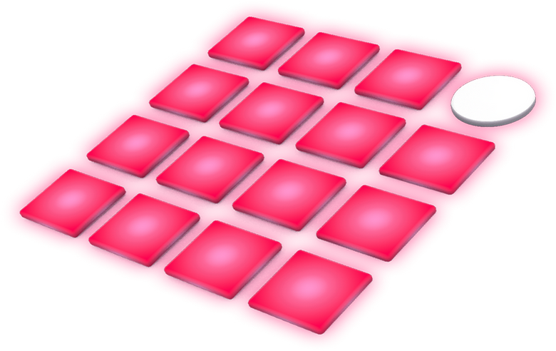 Minimalist graphic of a MIDI device, similar to an Ableton Push.