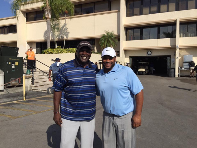 Lawrence Taylor and Jerome Bettis