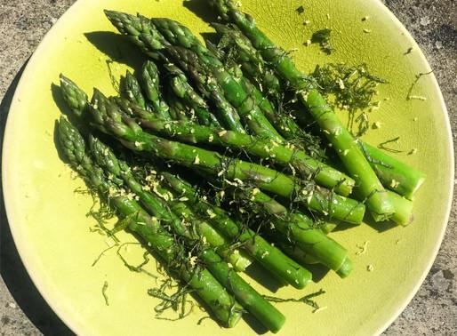 Seasonal asparagus