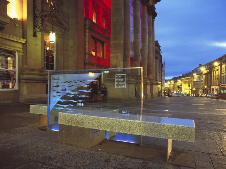 Public seating Newcastle