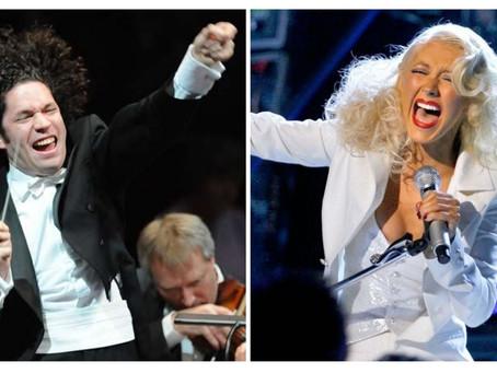 Christina Aguilera y Gustavo Dudamel se alistan para estremecer Hollywood.