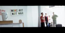 Pigment+Gallery_Diego+Ferrari_Make+art+not+war,+Bob+and+Roberta+Smith_1997_Photography+Edi