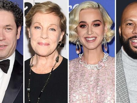 Gustavo Dudamel presentará a Julie Andrews y Katy Perry, entre otros, en 'Icons on Inspiration'.
