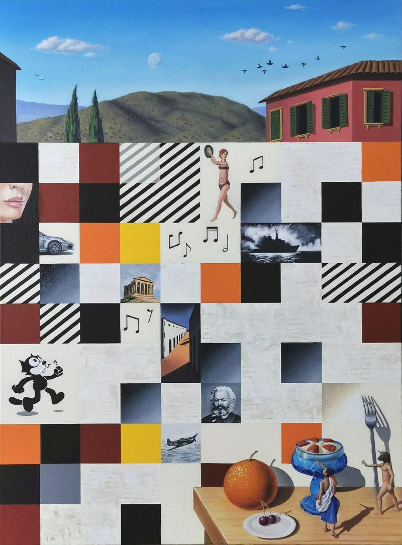 Joaquín Lalanne, S/T, 2020. Oil on canvas. 73x54 cm.