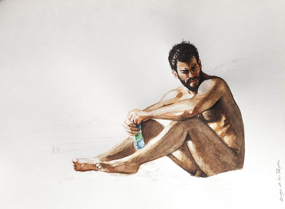 Dibujo de la serie «Otear el horizonte», de Diego de los Reyes.