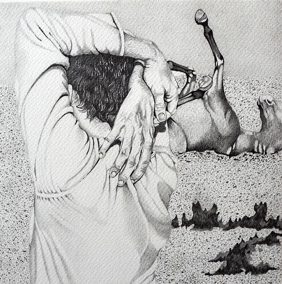 «Sin título», dibujo de la serie «Origen» de Silvia Lermo.
