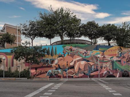 TIME, un mural de Franco Fasoli en busca de la Identidad de la Trinitat Nova, Barcelona.