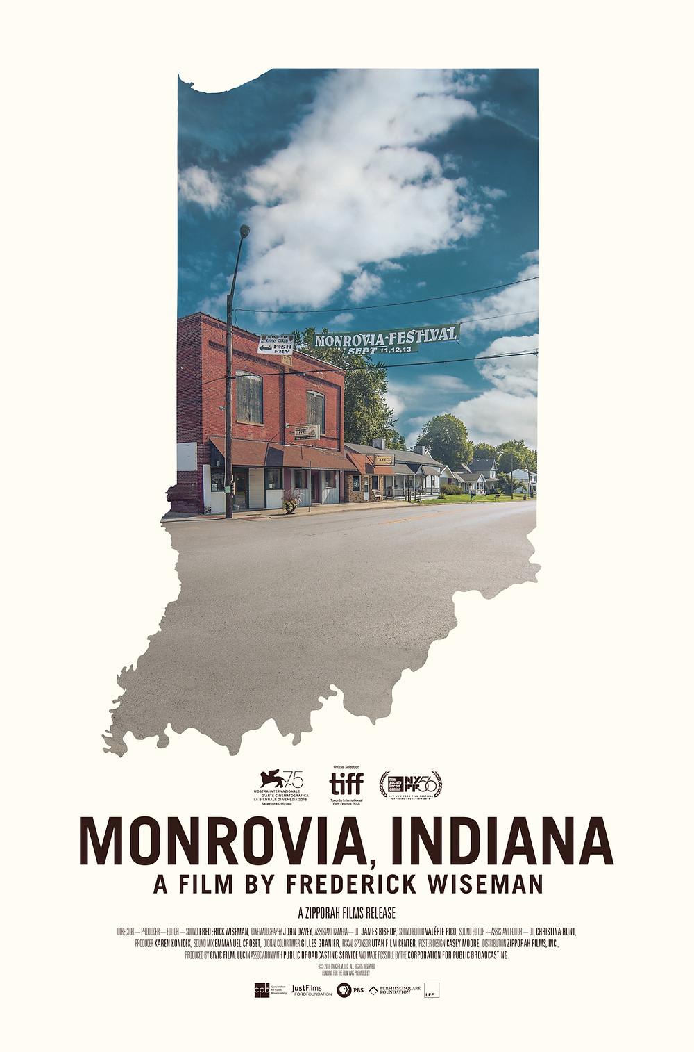 Frederick Wiseman, 'Monrovia, Indiana' Poster